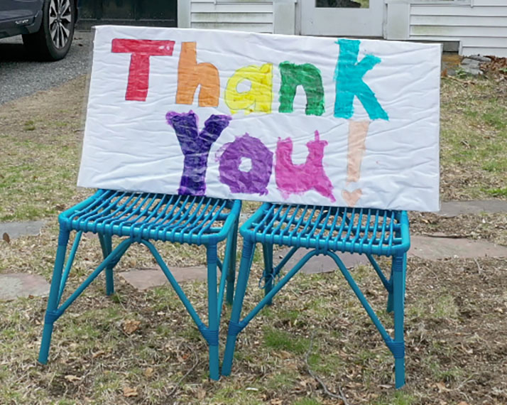 WH thank you sign